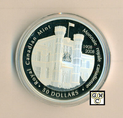2008 Proof  5oz. 100th Anniversary of the RCM $50 Fine Silver Coin (12315) OOAK