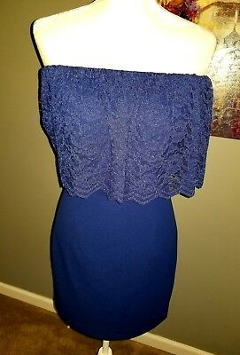 Aidan Mattox Off The Shoulder Womens Lace Cocktail Dress Nwt Size