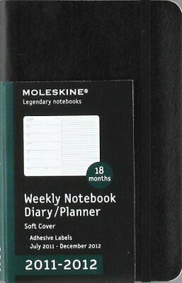 2012 Moleskine Pocket Weekly Notebook 18 Months Soft by Moleskine Diary Book The
