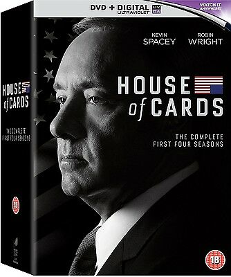 House of Cards Series 1 2 3 & 4 DVD Box Set New Sealed 1-4