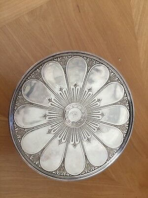 art nouveau Tiffany and Co sterling pedestal dish turn of century