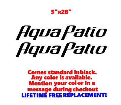 """Pair Of 5"""" X 28"""" Aqua Patio Boat Hull Decals Marine Grade. Your Color Choice.27"""