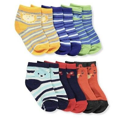 Nwt Baby Boy 6 Pair Pack Of Ankle Socks Size 12-24 Months