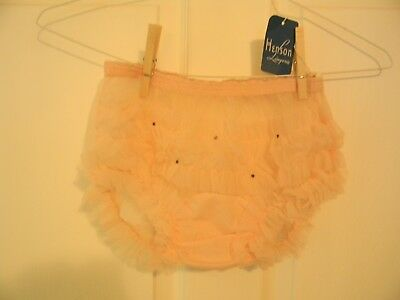 VTG 60s Panties HENSON~lace~See Thru~Double Nylon Gusset~NWT~Size 6~Hip 38~PINK