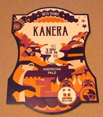 BREW YORK brewery KANERA cask ale beer badge pump clip front Yorkshire