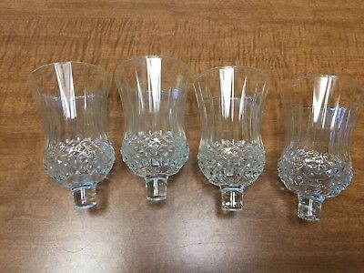 SET OF 4 SMALL DIAMOND BOTTOM VOTIVE CANDLE HOLDERS Homco Home Interior