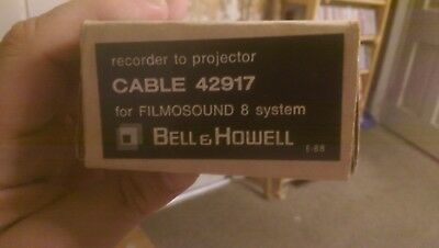 Bell & Howell FilmoSound Cable 42917 recorder to projector NOS