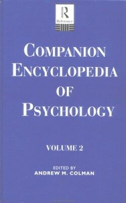 Comp Ency Psychology V 2 by Andrew M. Colman Hardback Book The Cheap Fast Free