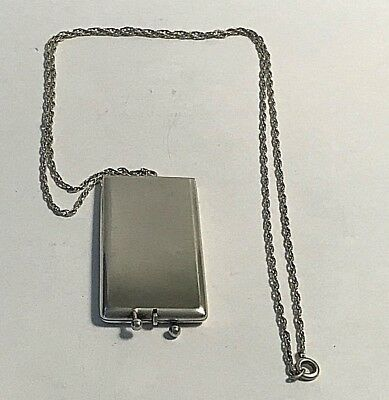 Antique Sterling Silver Schickering & Co. Needle Case Sewing #367
