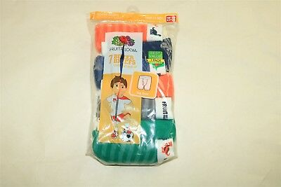 LOT OF 7 FRUIT OF THE LOOM Toddler Boy's Plaid Boxer Brief Underwear - 2T-3T