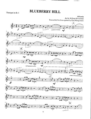 Blueberry Hill Brass Quintet Sheet Music 650 Picclick