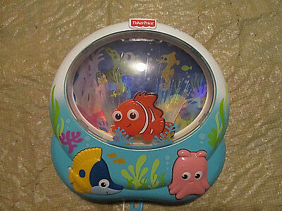 Fisher Price Disney Finding Nemo Crib Toy Soother Music Lights Sound Fiberoptic