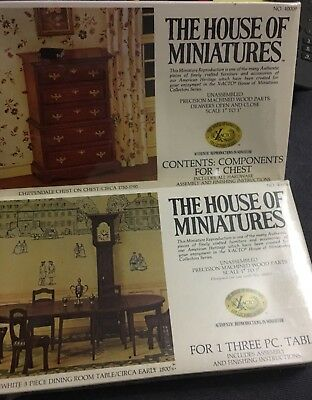 The House Of Miniatures. Brand New. Vintage Miniature Reproductions. Two boxes.