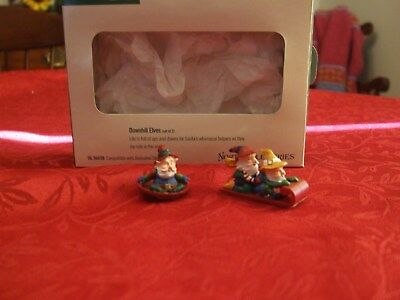 Dept 56 North Pole Series Downhill Elves Set of 2  #56.56439 - NEW