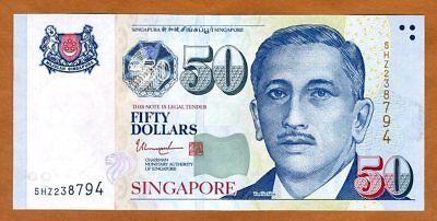 Singapore, 50 Dollars, ND (2017), P-49-New, UNC >  2 Solid Stars