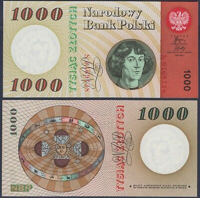 Poland P141***1000 Zlotych***nd 29-10-1965***unc Gem***see Full Description