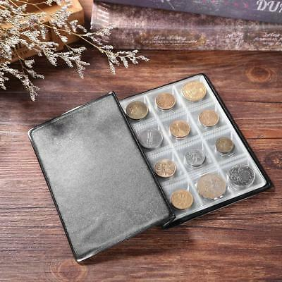 120 Pockets PVC Coins Album Collection Storage Holder Money Album Book-Black