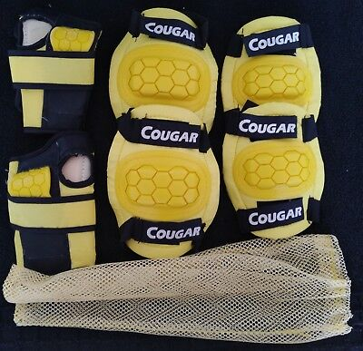 Couger COMPLETE KID SET SAFE PADS KNEE ELBOW WRIST ROLLER INLINE SKATE