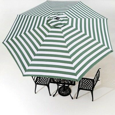 Outdoor Patio Umbrella Canopy Top Cover Replacement Fit 10u0027 8rib Garden  Umbrella
