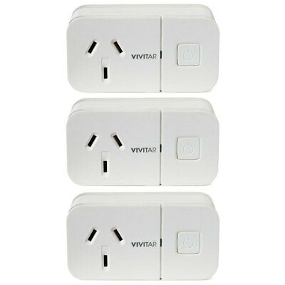 3x Vivitar  Wireless Wi-Fi Remote Plug Powerpoint/Smart Home Security System App