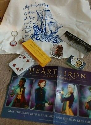 Owlcrate Book Lot Bookish Merchandise Bookmarks Poster Towel Six of Crows