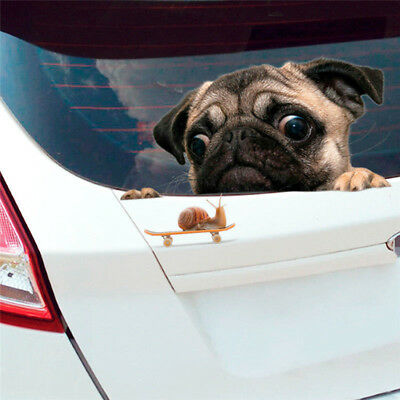 Funny Pug Dog Watching Cute Pet Puppy For Car/Bumper/Window Vinyl Decal Sticker
