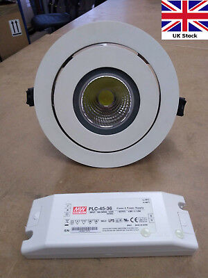 LED Downlight 35W Scoop - adjustable tilt recessed spotlight - driver included