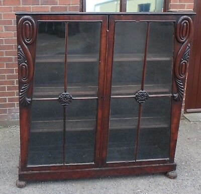 Fine George III Regency antique country house Cuban mahogany library bookcase