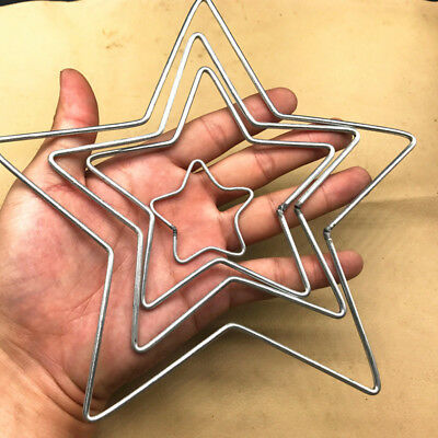 Welded Metal Ring Heart Star Craft Hoop DIY Parts AU