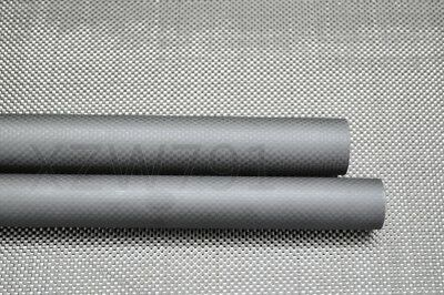 20mm OD X 17mm ID X 1000MM Matte Surface Roll Wrapped Carbon Fiber Tube 3K US
