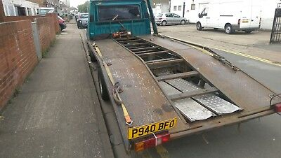 Ford transit smiley 2.5 di Recovery truck transporter flatbed beavertail 1996