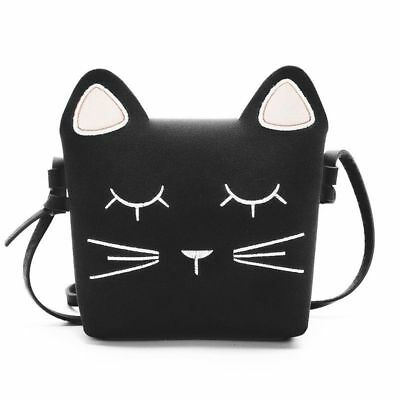 40f2da3247be Cute Cat Girls Purse handbag Children Cross-body shoulder bag Gift, black  Z5L7P