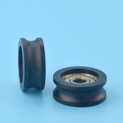 2pcs U Nylon plastic Embedded 626 Groove Ball Bearings 6*25*10mm Guide Pulley