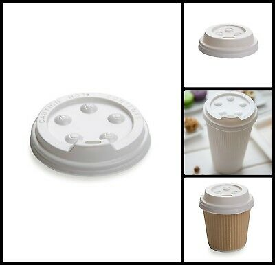 Disposable White Premium Polystyrene 4oz Coffee Cup Lids For Cafe or Home 50 Pcs
