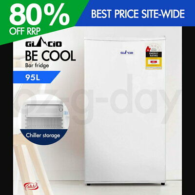 Glacio 95L Portable Electric Mini Bar Fridge Refrigerator Cooler Freezer Home WH