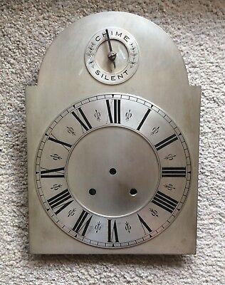 A Very Nice Eight And A Half Inch Silvered Arch Clock Dial