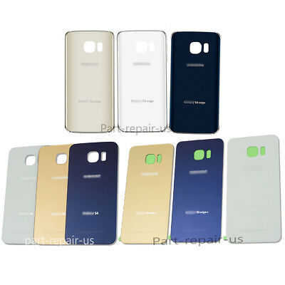 OEM Battery Cover Glass Housing Back Door For Samsung Galaxy S6 G920 EDGE plus +