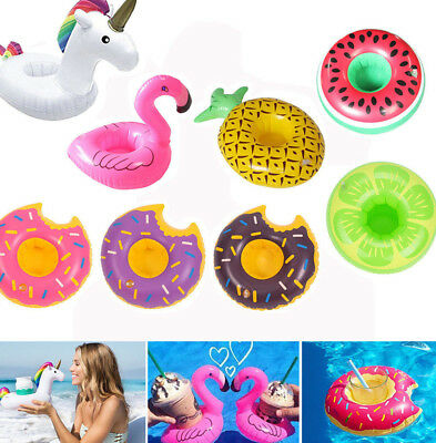 Inflatable Drink Holders Drink Floats Cup Coasters For Pool Party Bath Kids Toys