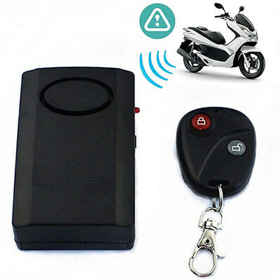 Motorcycle Motorbike Scooter Anti-Theft Security Alarm Vibration Remote Strict