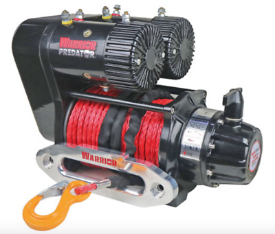 WARRIOR PREDATOR 10000lb 12v ELECTRIC DUEL MOTOR COMPETITION WITH SYN ROPE