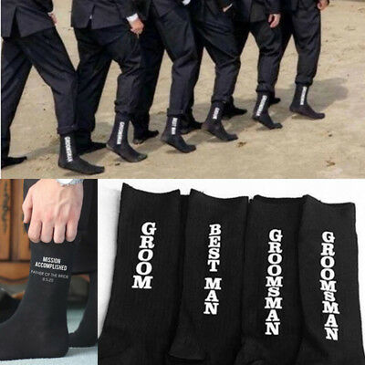 Personalised socks gift wedding groom best man father cold feet usher pageboy