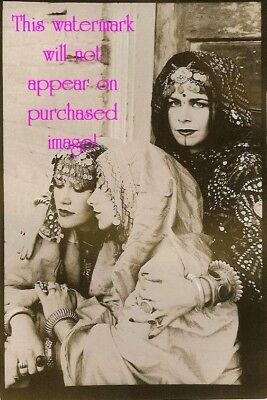 Old VINTAGE Antique BEAUTIFUL GYPSY SISTERS Photo Reprint (2)