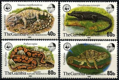 Gambia 1981 SG#460-463 WWF Abuko Nature Reserve MNH Set #D75374