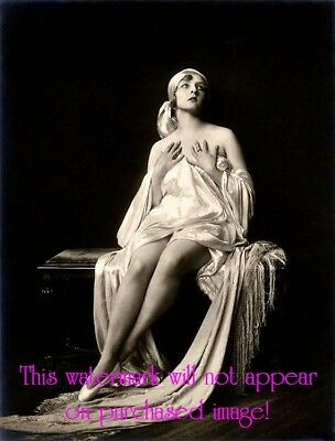 Old VINTAGE Antique GORGEOUS Draped Fabric GYPSY Portrait Photo Reprint