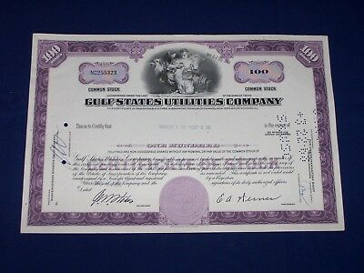 Lot of 12 Gulf States Utilities Company Stock Certificates