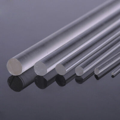 Clear Acrylic Rod 1/1.5/2/3/4/5/6mm Diameter x250mm Long Round Perspex Solid Bar