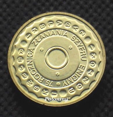 COIN OF POLAND - 75th ANNIVERSARY OF BREAKING ENIGMA CODES (MINT)
