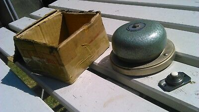 Vintage Dome Fire/door Bell Gents With Push Button Switch Original Box Untried