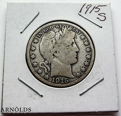1915-S Barber Half Dollar - Very Good to Fine Condition -