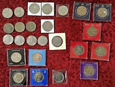Lot of 25 Coins Churchill Queen Elizabeth Princess Diana Queen Mother 6 types